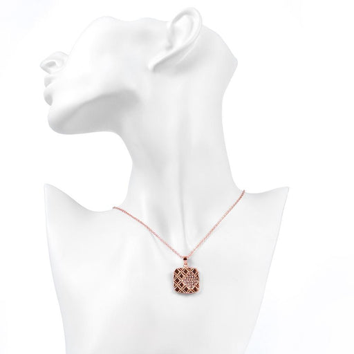 Anzio Necklace in 18K Rose Gold Plated with Swarovski Crystals Jewelry Silver Milo