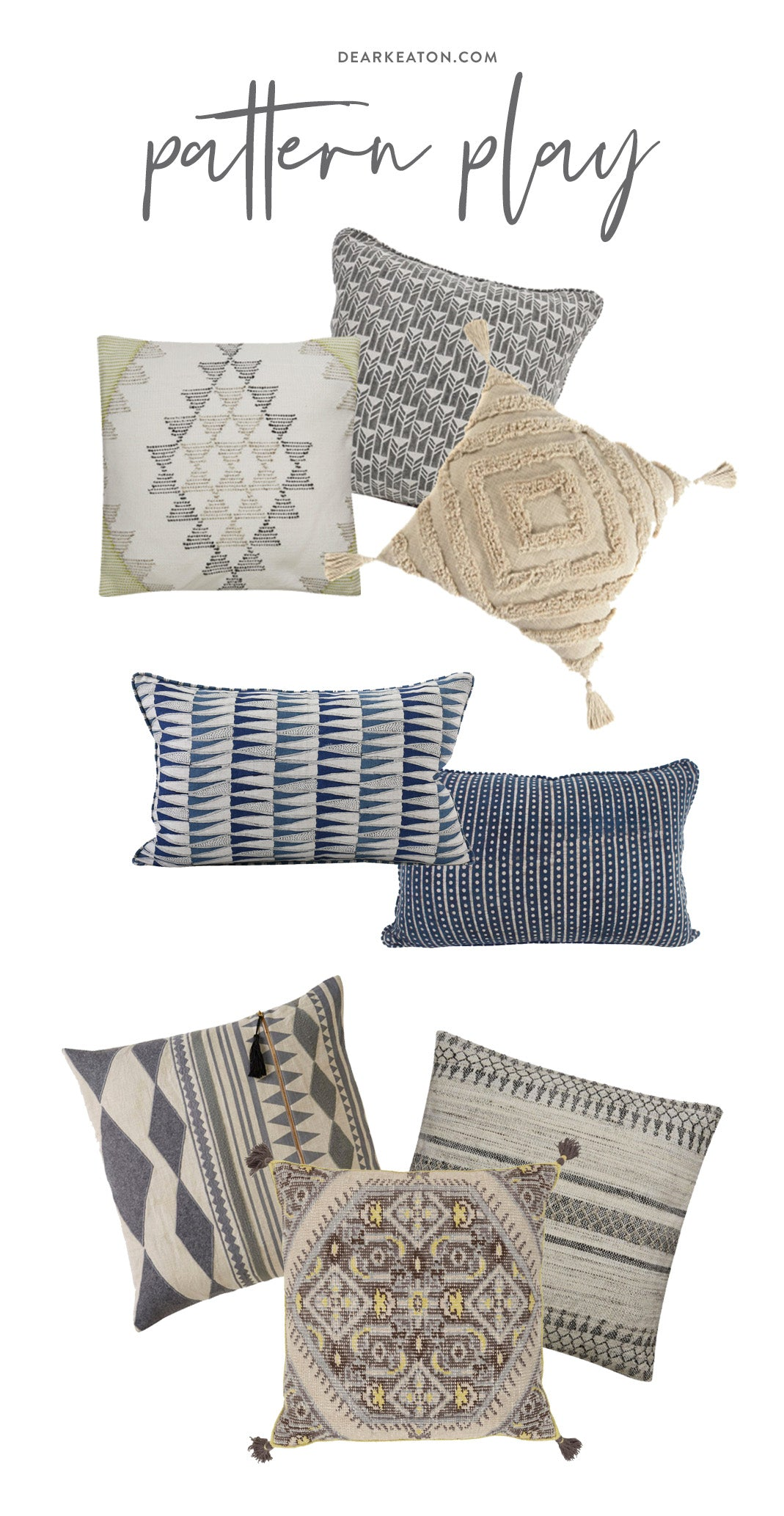 How to pattern play with pillows | Dear Keaton