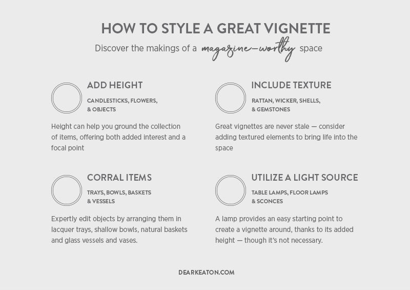How to style a magazine worthy vignette