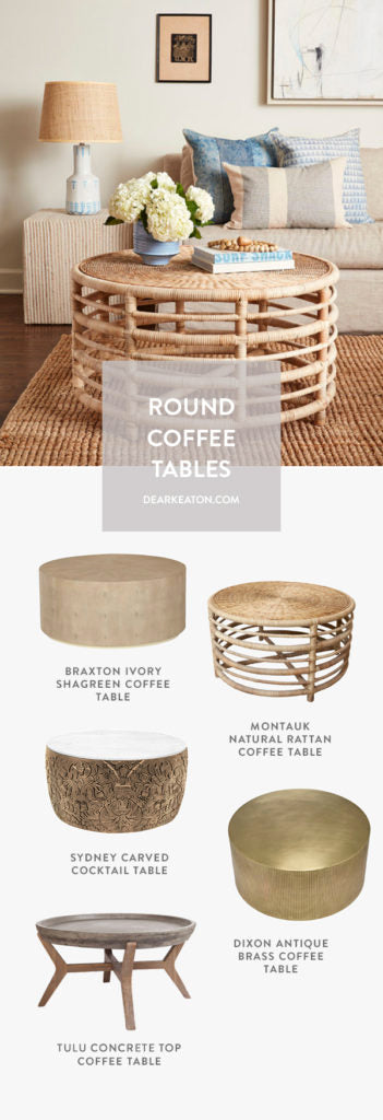 Round Coffee Tables from Dear Keaton