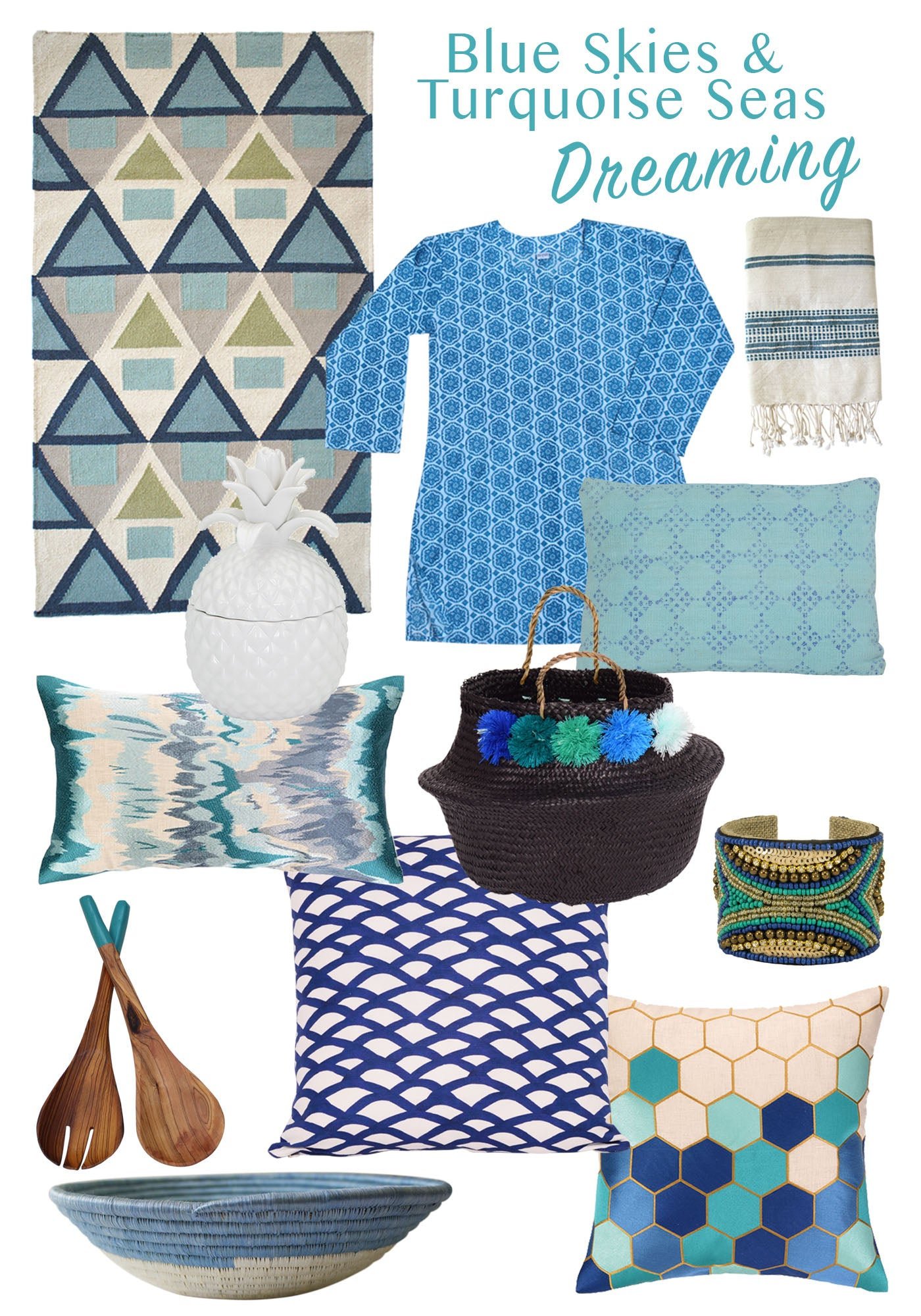 Blue Skies Turquoise Seas Product Roundup from Dear Keaton