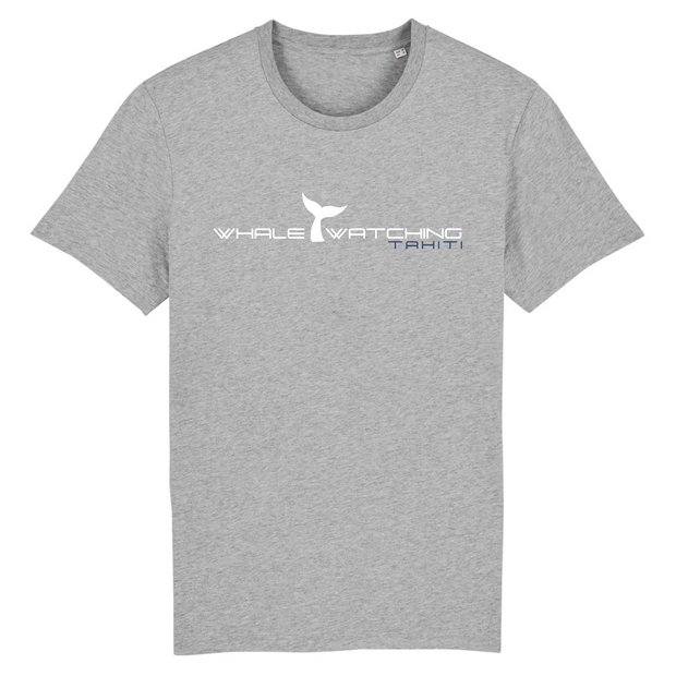 Whale Watching Tahiti T shirt gris chiné  homme