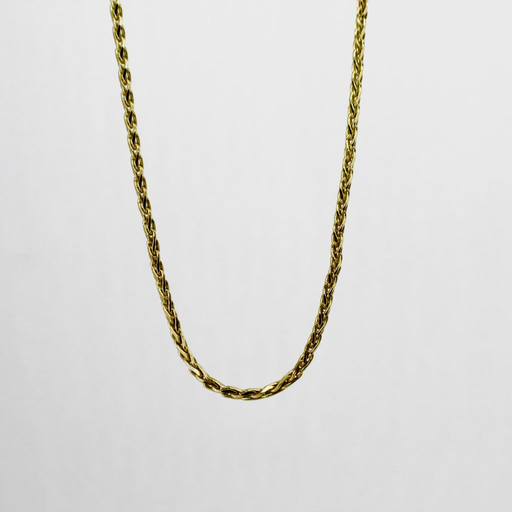 14kt Yellow Gold Wheat Chain