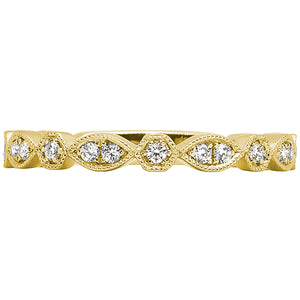14kt Tellow Gold Diamond Stackable Band