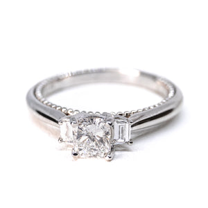 14kt White Gold Diamond Semi Mount .20ct tw