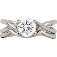 Load image into Gallery viewer, 14kt White Gold Mounting Ensemble *Center Stone not included
