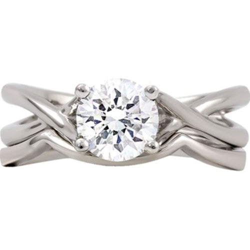 14kt White Gold Mounting Ensemble *Center Stone not included