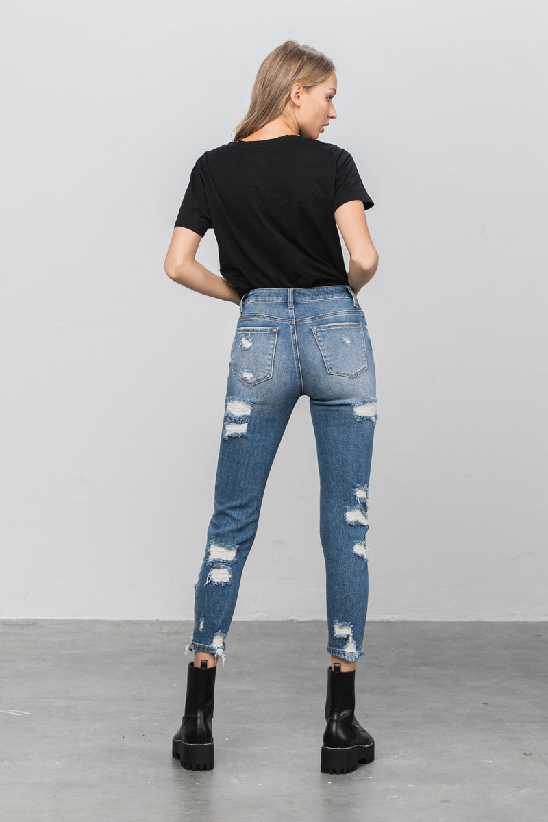 Ruby High Rise Relaxed Skinny Jeans - Insanegene.com