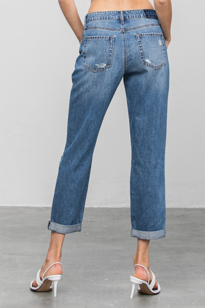 Love Dept Distressed Boyfriend Jeans - Insanegene.com