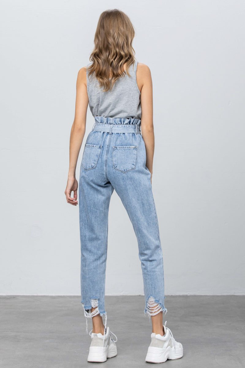 One of Kind Paper Bag Slouch Jeans