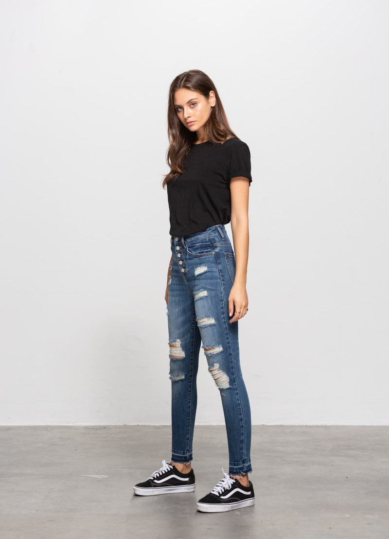 Lucy Distressed Jean - Insanegene.com