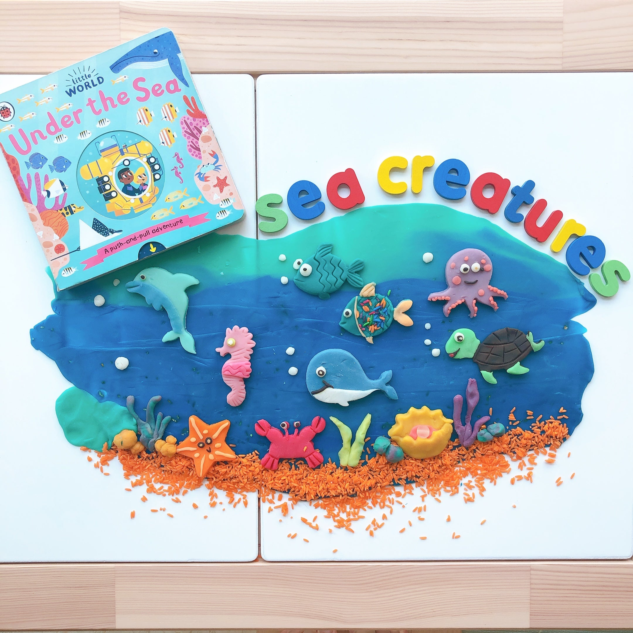 Under The Sea Play Dough Invitation - Our Little Treasures