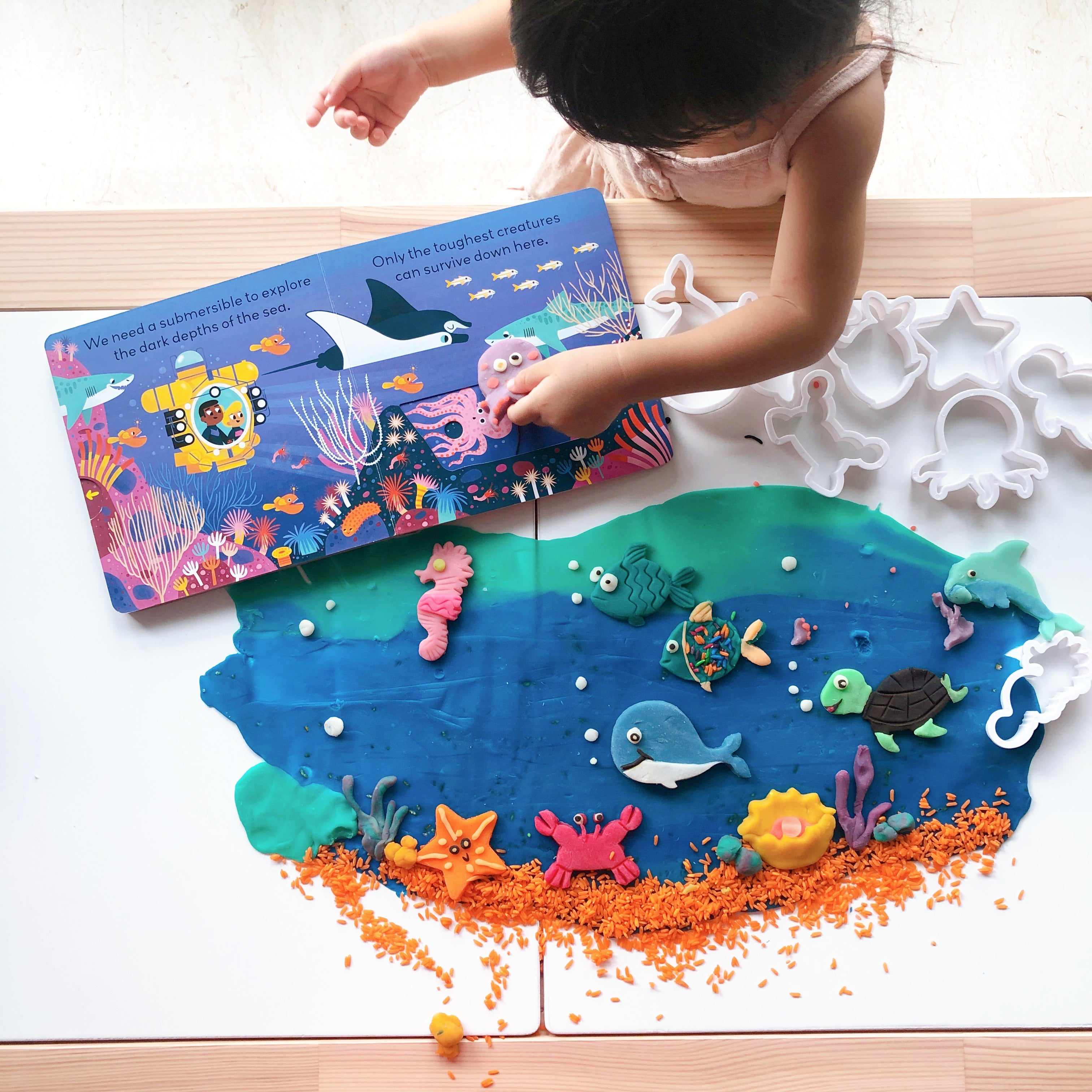 Under The Sea Play Dough Activities - Our Little Treasures