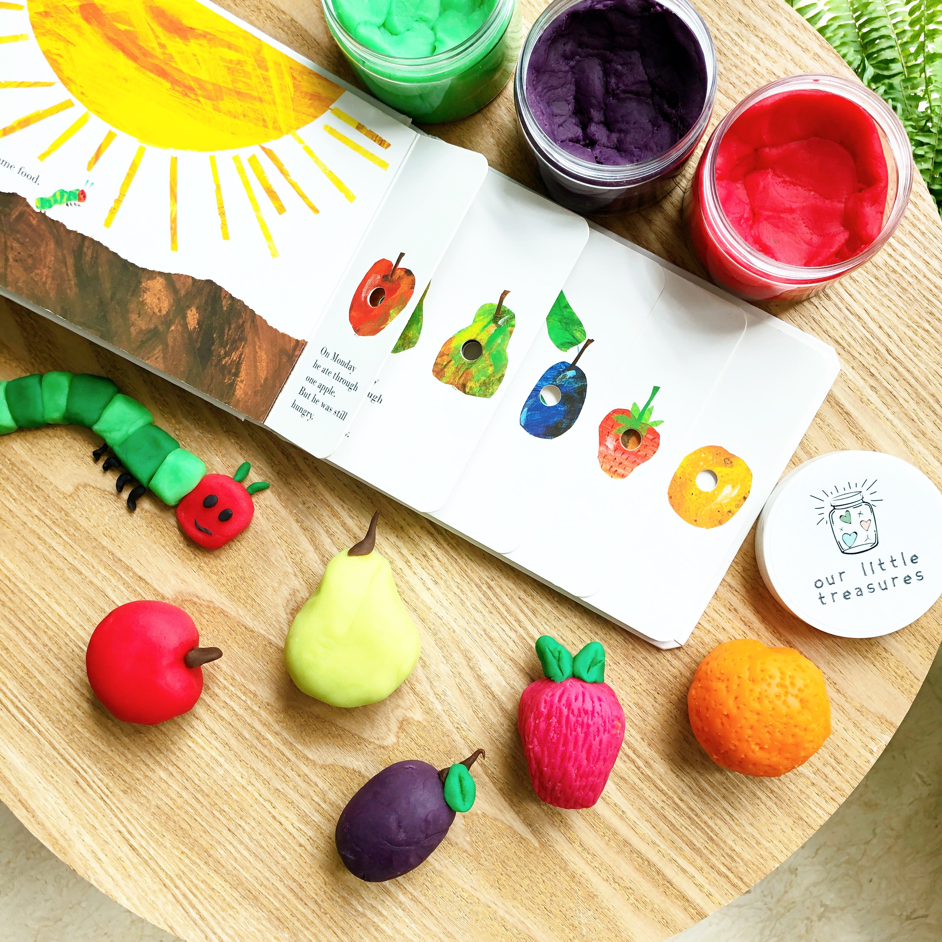 The Very Hungry Caterpillar Play Dough Play