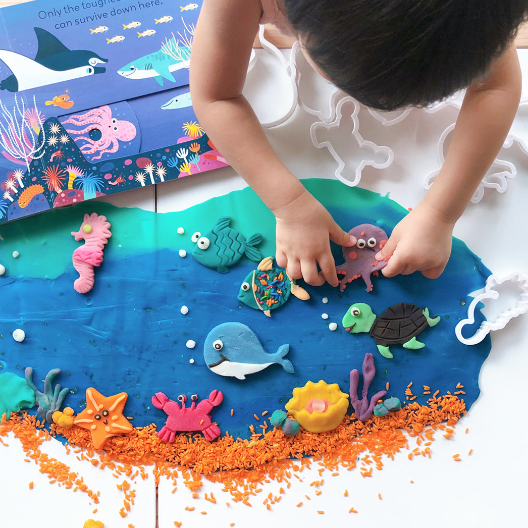 Under The Sea Play Dough Set up - Our Little Treasures