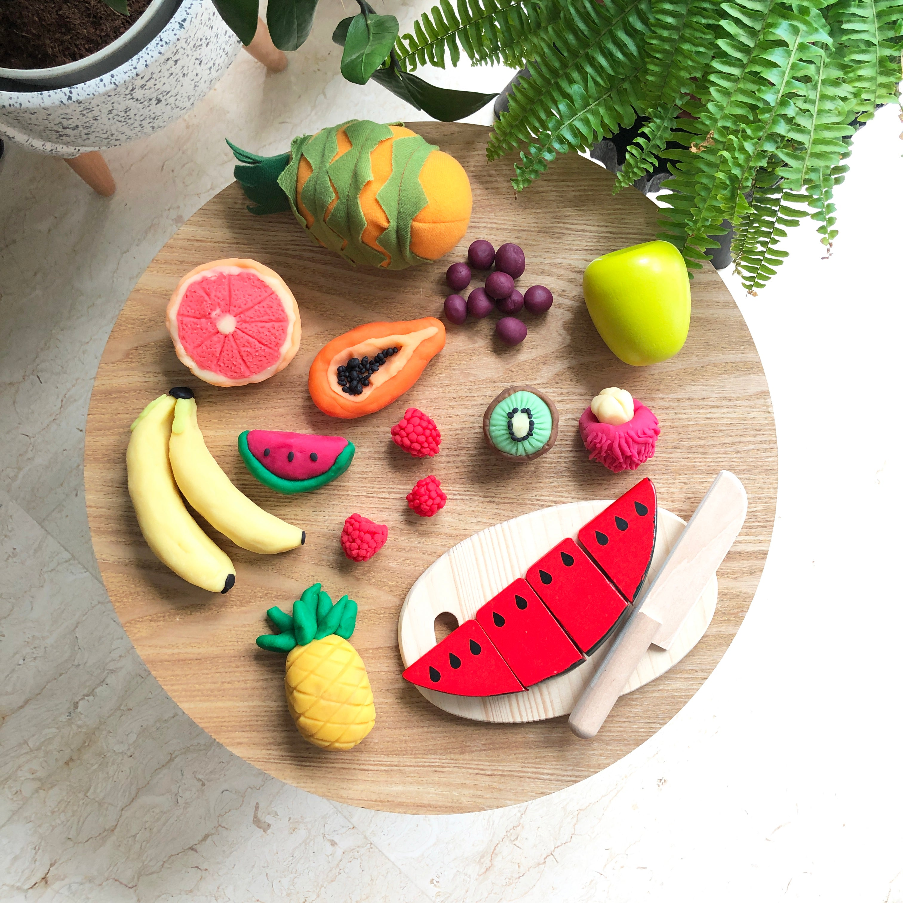 Learning about Fruits with Play Dough