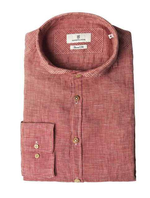 Shirt Bluecheck, Red