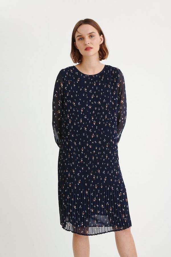RyannW Dress, Blue Scattered Flowers
