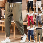 Load image into Gallery viewer, New Men's Casual Vintage Loose Cotton Linen Pure Color Comfort Ankle-Length Pant pantalones hombre streetwear joggers sweatpants