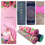 Load image into Gallery viewer, 5.5mm TPE Suede Yoga Mat Pad Sport Non-slip Color Printed Slimming Fitness Exercise Mat for Gym Travel Esterilla Pilates 61cm
