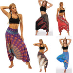 Load image into Gallery viewer, Women'S Sports Pants Casual Summer Boho print Loose Yoga Trousers Baggy Harem Vintage High Waist Pants Spodnie Damskie Mujer
