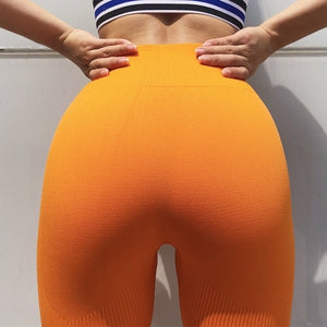 Women Slim Fitness Leggins Casual Workout Pink Butt Lifting Pants Seamless Leggings Activewear Yoga Booty Capri Pants