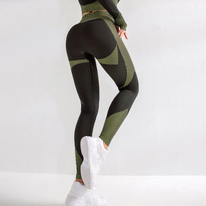 Fitness Women's High Waist Tight Yoga Pants Quick-Drying Gym wear Workout Breathable Sports Pants Peach Hip Fitness Pants