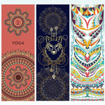 Load image into Gallery viewer, Hot Yoga Mat Towel 185*63cm Printed Yoga Towel Non slip Fitness Workout Mat Cover For Pilates Gym Yoga Blankets
