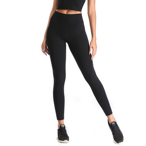 LI-FI High Waist Yoga Pants Fitness Yoga Leggings 4 Way Streth Workout Running Leggings Yoga Pants Elastic Slim Sports Leggings