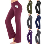Load image into Gallery viewer, Yoga Pants Women Running Pants Tights for Women Loose Yoga Trousers Stretchy Soft Bamboo Pocket High Waist Fitness Yoga Pants