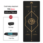 Load image into Gallery viewer, Non-slip TPE Yoga Mat 6mm New Design Gym Fitness Pilates Carpet Pads for Beginner Women Esterilla Sports mats Tasteless Cushion