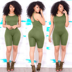 Load image into Gallery viewer, Sexy Women's Sleeveless Bodycon Slim Fit Jumpsuit Clubwear Bodysuit Shorts