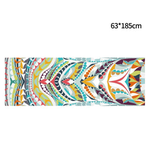 Hot Yoga Mat Towel 185*63cm Printed Yoga Towel Non slip Fitness Workout Mat Cover For Pilates Gym Yoga Blankets