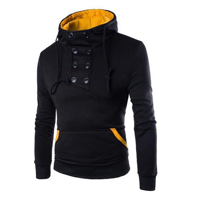 Autumn New Men Hoodies Sweatshirts Casual Solid Long Sleeve Hoodie Men Slim Fit Pullovers Sweatshirt Plus Size Hoody Streetwear
