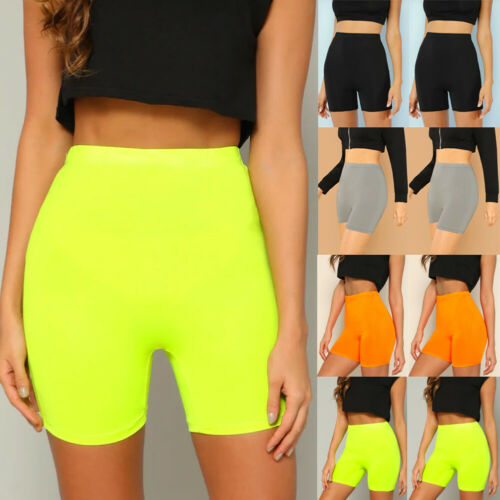 Women High Waist Leggings Stretch Biker Shorts Workout Yoga Fitness Sports Shorts 5 Colors