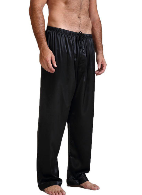 Mens Silk Satin Pajamas Pyjamas Pants Lounge Pants Sleep Bottoms Size S-XL Plus
