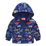 Load image into Gallery viewer, Kids Clothes Girls outerwear Jackets Children Hooded Zipper Windbreaker Coat Infant Waterproof Fashion Print Hoodies For Boys
