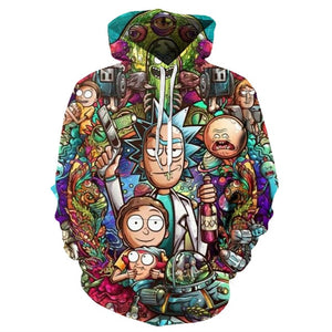 Rick and Morty Hoodies By jml2 Art 3D Unisex Sweatshirt Men Brand Hoodie Comic Casual Tracksuit Pullover DropShip Streetwear