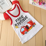 Load image into Gallery viewer, 2020 Summer Boys T-Shirt Cartoon Kids Underwear Sleeveless Cotton Girls Undershirts Baby Camisole Shirts for Children Clothing
