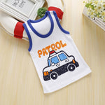 Загрузить изображение в средство просмотра галереи, 2020 Summer Boys T-Shirt Cartoon Kids Underwear Sleeveless Cotton Girls Undershirts Baby Camisole Shirts for Children Clothing