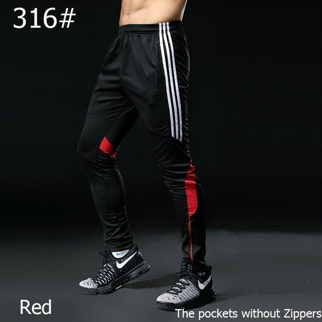 Gym Running Pants Men Athletic Football Training pants Soccer sport Pants Fitness Workout Jogging Quick Dry Sport Trousers