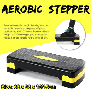 Fitness Aerobic Step Adjustable Non-slip Cardio Yoga Pedal Stepper Gym Workout Exercise Fitness Aerobic Step Equipment 100KG
