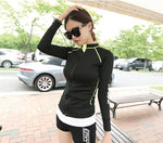 Load image into Gallery viewer, Breathable Sportswear Women T Shirt Sport Suit Quick Dry Running Shirt Yoga Tops Gym Fitness t Shirt Jacket Clothes P229