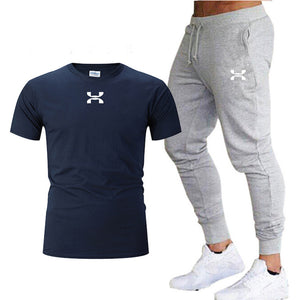 Pants Men Sweatpants+men running t-shirts men sets jogging Sportswear men Pants Gym Fitness Sportswear Tracksuit Training Pants