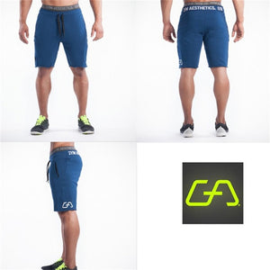 Mens gym cotton shorts Run jogging sports Fitness bodybuilding Sweatpants male workout training Brand Knee Length short pants