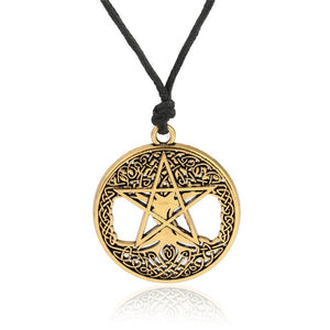 Dawapara Triple Moon Goddess Wicca Pentagram Magic supernatural Amulet Necklace Women tree of life moon necklaces pendants