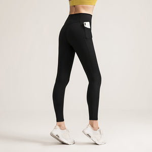New Women High-waist Yoga Pants Female Fitness Pants No Embarrassment Line Sports Pants Gym Leggings Comfortable Quality Fabric