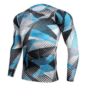 Compression Sport Shirt Men Long Sleeve Camouflage Fitness 3D Quick Dry Men's Running T-shirt Gym Workout Clothing Top Rashgard