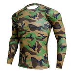 Load image into Gallery viewer, Compression Sport Shirt Men Long Sleeve Camouflage Fitness 3D Quick Dry Men's Running T-shirt Gym Workout Clothing Top Rashgard