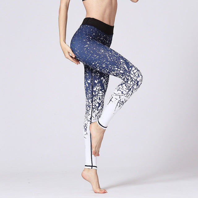 LI-FI Fitness Yoga Pants Women Leggings Floral Workout Sports Running Leggings Sexy Push Up Gym Training Wear Elastic Slim Pants